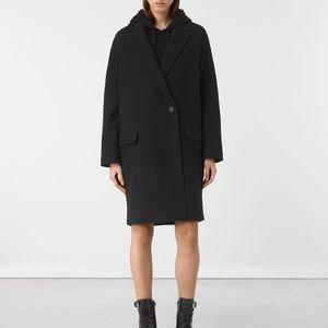 black coat by all saints